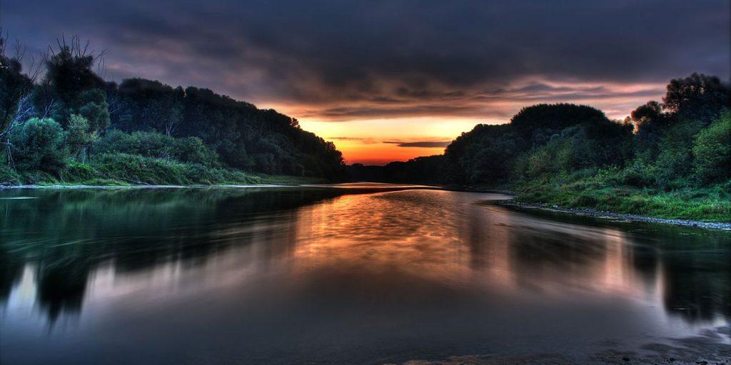 Amazon beautiful river sunset