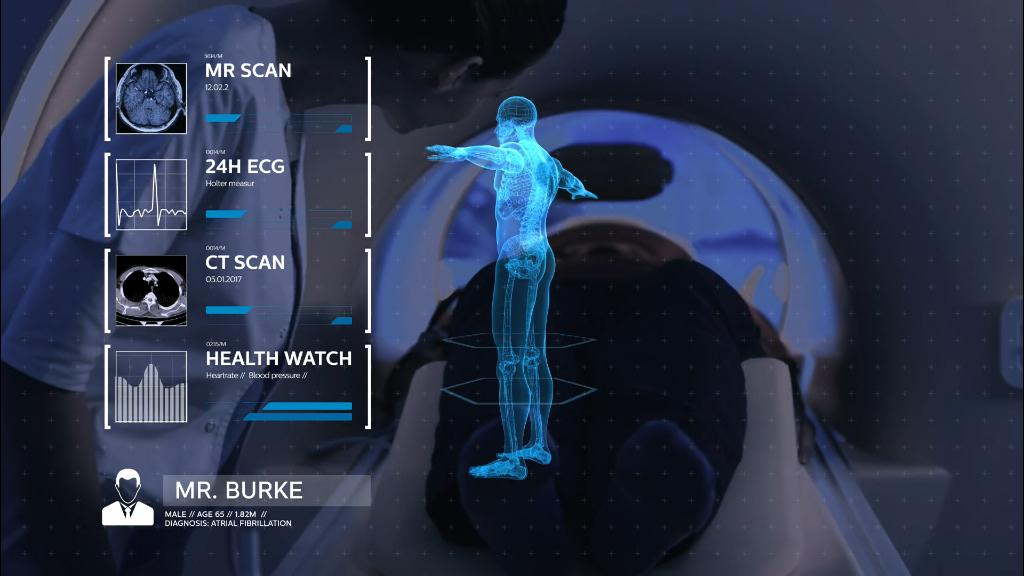 using a digital twin interface to monitor the effects of medicine on human health