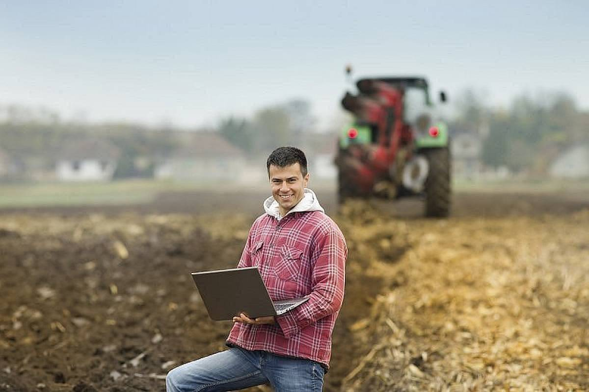planting crops as a young farmer in the field